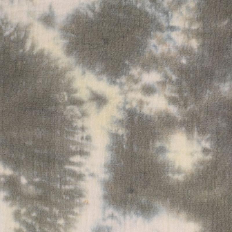 Musselin Batik Grau