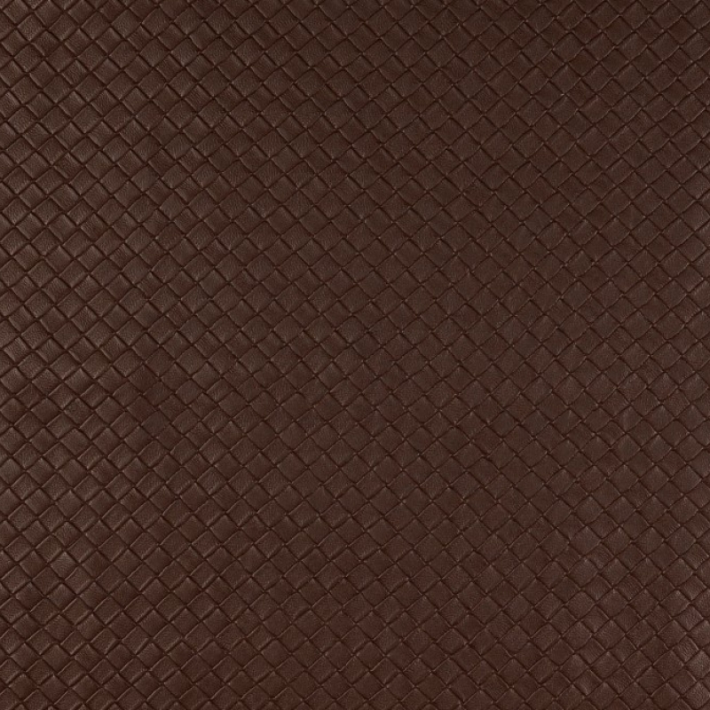 Lederimitat Flechtoptik Braun