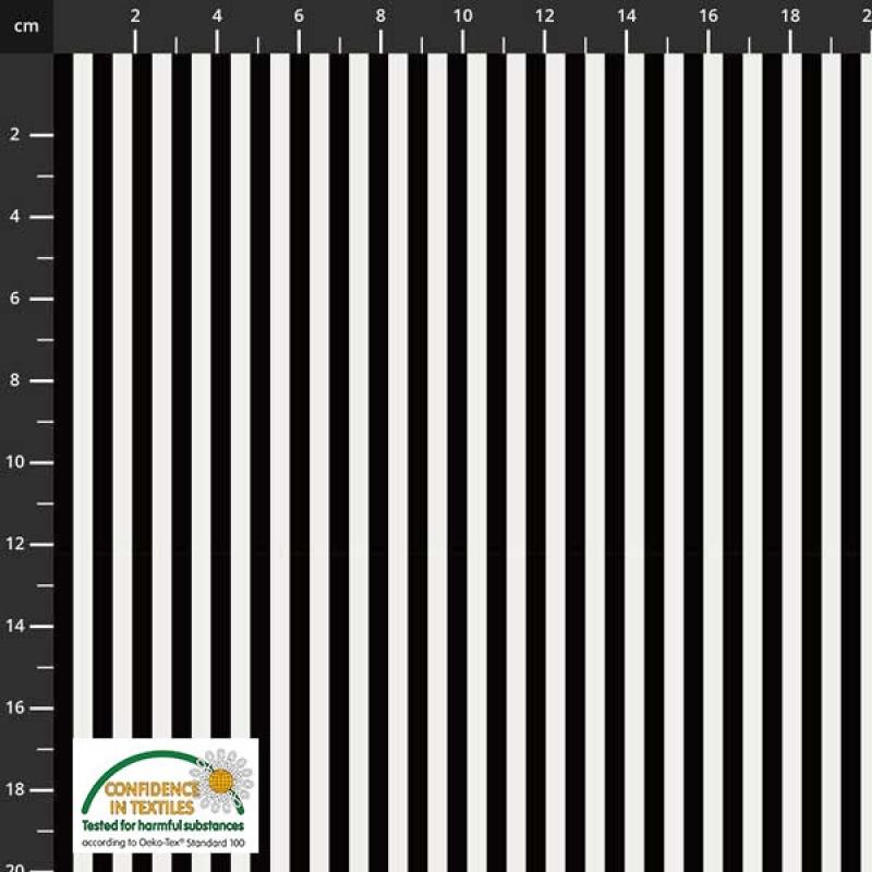 Essentials Streifen schwarz-weiß