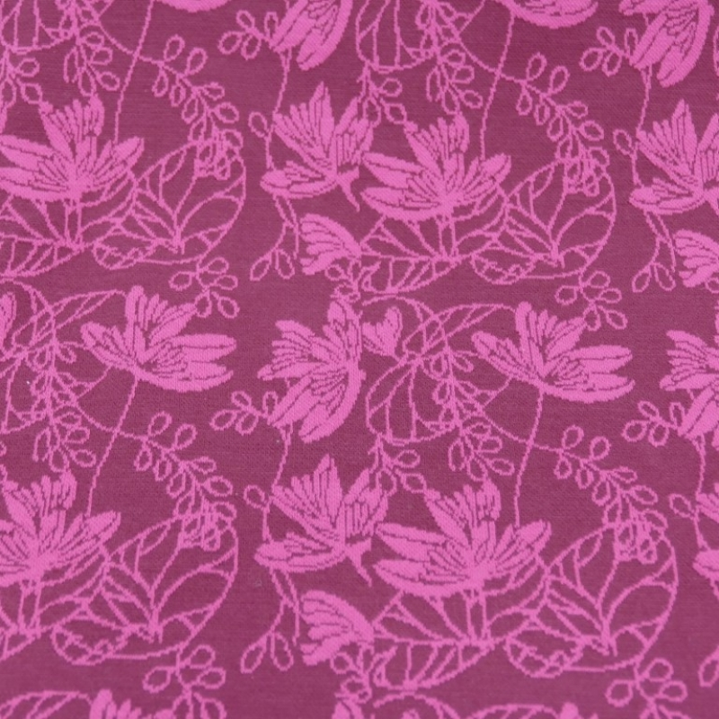 Jaquardstrick Flowers