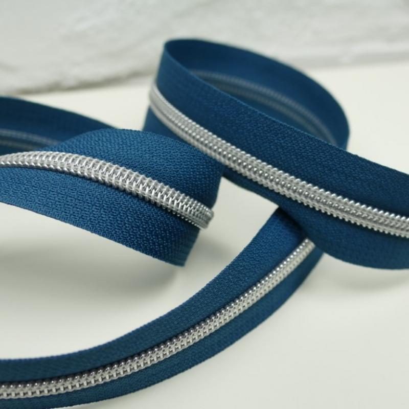 Reißverschluss metallisiert Prussian Blue