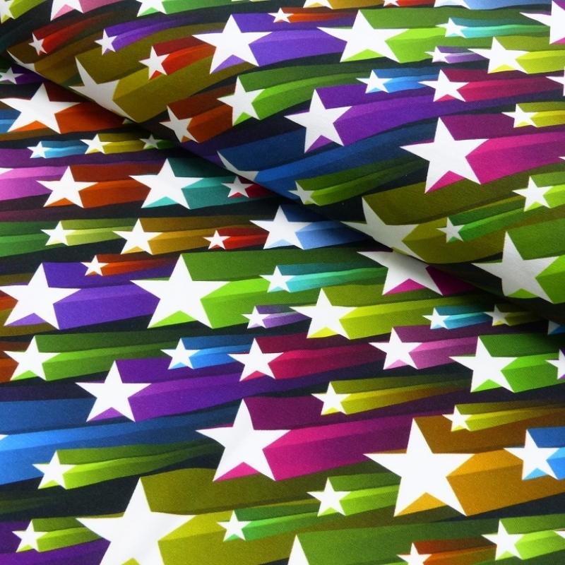 Baumwoll Jersey Flying Stars