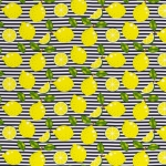Baumwollstoff Happy Zitronen