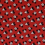 Baumwoll Digitaldruck Mickey Mouse rot
