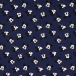 Baumwoll Digitaldruck Mickey Mouse blau