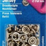 Prym Jersey Druckknöpfe 10mm, Nachfüllset