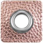 Ösenpatch rosa metallic
