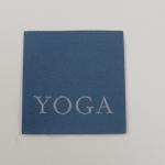 Applikation Yoga, petrol