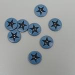 Sternchenknopf Blau