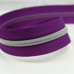 Reißverschluss metallisiert Violet