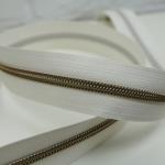 Reißverschluss metallisiert Eggshell