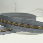 Reißverschluss metallisiert Silver