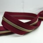 Reißverschluss metallisiert Burgundy
