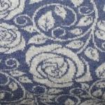 Wollstrick doubleface Blau