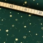 Weihnachtsdruck Sterne grün