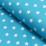 Baumwolldruck Petit Stars Türkis