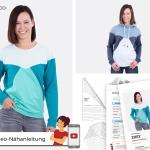 Schnittmuster Zoey Colourblock-Pullover